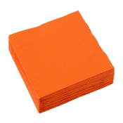 Serviettes cocktail 20x20cm ORANGE X100